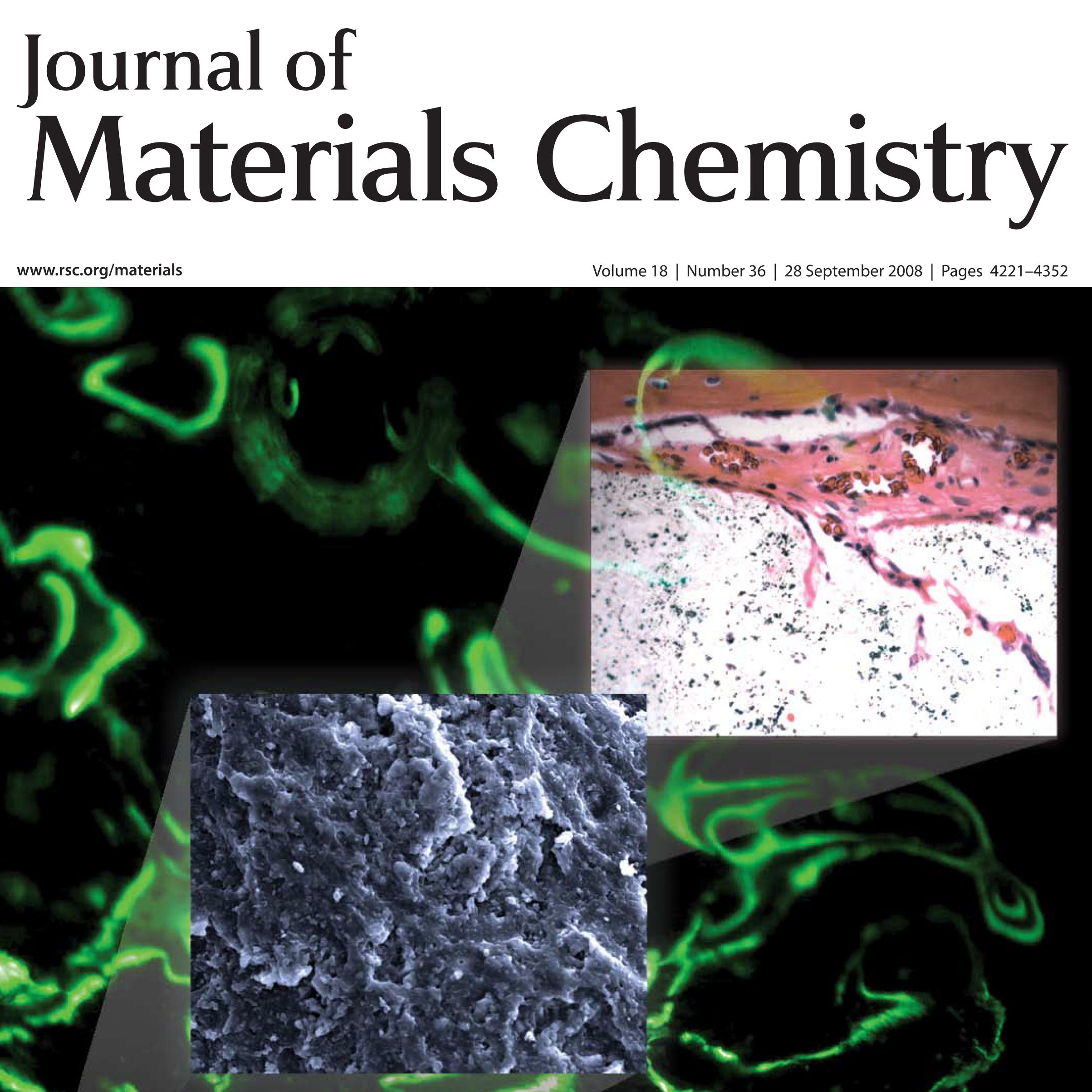 Micah Rogel, <em>Journal of Materials Chemistry</em>, 2008 Cove